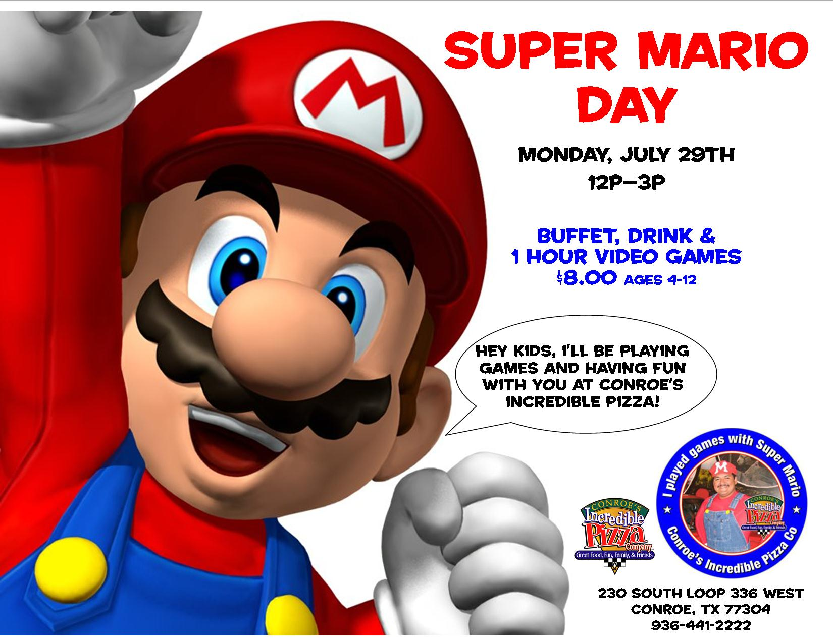 meet super mario incredible pizza company enjoy our huge all you